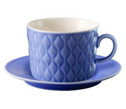 Чайная пара Loveramics Weave (0.28 л), синяя