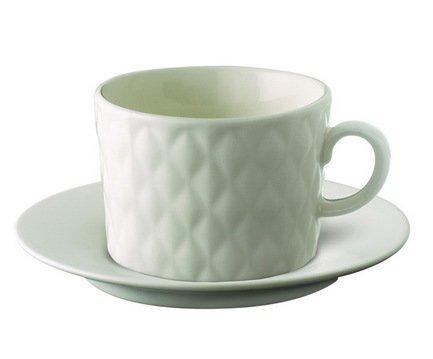 Чайная пара Loveramics Weave (0.28 л), белаяЧашки и Кружки<br><br><br>Серия: Weave<br>Состав: Чашка (0.28 л), 9.8х7 см - 1 шт., Блюдце, 11.6х2 см - 1 шт.