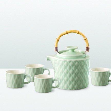 Чайный набор Loveramics Weave на 4 персоны, 5 пр., голубой
