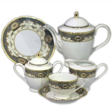 Сервиз чайный Silver Gold на 12 персон, 41 пр.