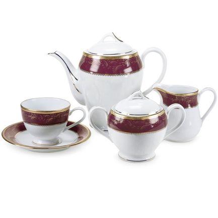 Сервиз чайный Color Line на 12 персон, 41 пр., красный Yamasen 828518MR/41