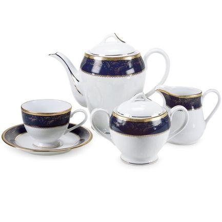 Сервиз чайный Color Line на 12 персон, 41 пр., синий Yamasen 828518BL/41