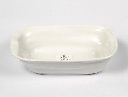 Мятое прямоугольное блюдо Фруаз (0.5 л), 19х13 см, белое (FR0719-1)