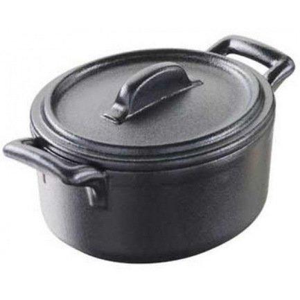 Мини кокотница с крышкой Бель Куизин (0.08 л), 7.5х7х4.2 см, цвет черный металл (BC0108N-181)