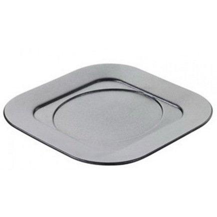 Подставка для квадратного блюда или кокотницы, черный металл, 17.5х17.5х1.5 см (BC2417N-181)