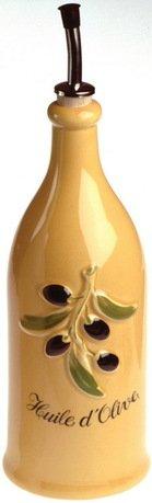 Бутылка для оливкового масла Прованс (0.25 л), 23х6.5 см, желтая (P94-129)Бутылки для Масла и Уксуса<br>Масло лучше хранить в емкости из непроницаемого материала. Для этого идеально подойдет стильная фарфоровая бутылочка с гейзером. Ее стенки не пропускают солнечные лучи, а гейзер позволяет аккуратно заправлять маслом любые блюда. Масло льется дозированной тонкой струйкой.<br><br>Серия: Provence