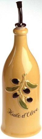 Бутылка для оливкового масла Прованс (0.25 л), 23х6.5 см, желтая с серым (P94-129-2112)Бутылки для Масла и Уксуса<br>Масло лучше хранить в емкости из непроницаемого материала. Для этого идеально подойдет стильная фарфоровая бутылочка с гейзером. Ее стенки не пропускают солнечные лучи, а гейзер позволяет аккуратно заправлять маслом любые блюда. Масло льется дозированной тонкой струйкой.<br><br>Серия: Provence