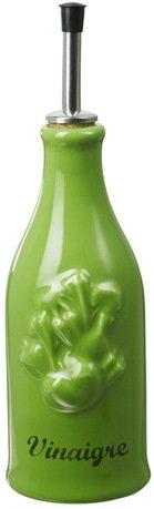 Бутылка для уксуса Прованс (0.25 л), 23х6.5 см, зеленая с серым (P95-168-2105)Бутылки для Масла и Уксуса<br>Стильная фарфоровая бутылочка с гейзером незаменима для ежедневного использования. С помощью гейзера вы сможете аккуратно заправить салат уксусом: жидкость из бутылочки будет разливаться тонкой и ровной струйкой.<br><br>Серия: Provence