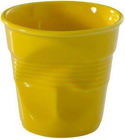 Мятый стакан для эспрессо (80 мл), 6.5х6 см, желтый (RGO0108-129)Стаканы<br>Изготовленные из жаропрочного фарфора стаканы сохраняют оптимальную температуру крепкого эспрессо. Оригинальный дизайн вызывает желание немедленно насладиться вкусом и ароматом этого кофейного напитка.<br><br>Серия: Froisses