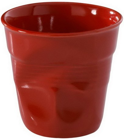 Мятый стакан для эспрессо (80 мл), 6.5х6 см, красный перец (RGO0108-137)