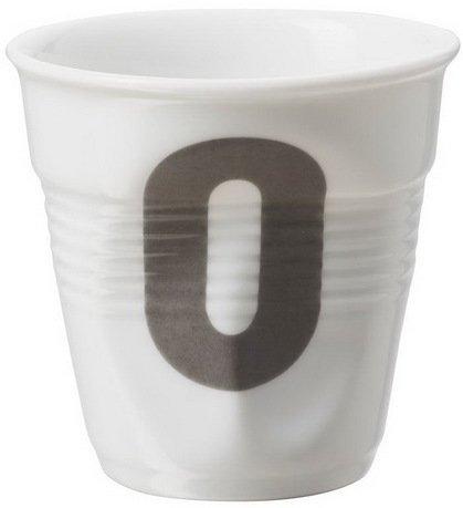 Мятый стакан для капуччино с цифрой 0, (180 мл), 8.5х8.5 см (RGO0118-1-2115)