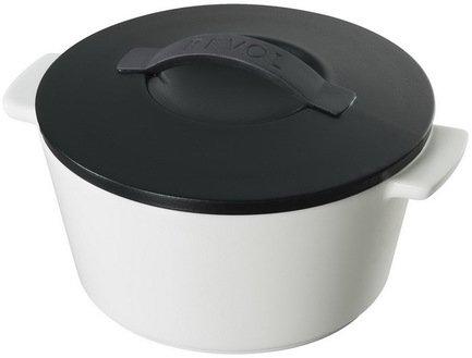 Круглая кокотница (1.5 л), 19х12.5 см, черный сатин (RV1018-20-2000)