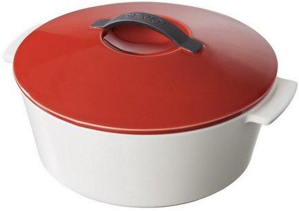 Круглая кокотница (3.4 л), 26х14.5 см, красный перец (RV1025-137-2000)