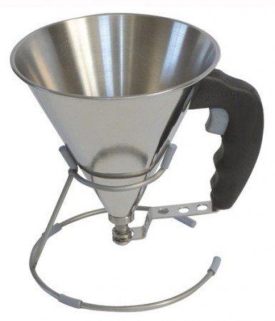 Мини-воронка с клапаном (0.8 л), 15 см, раструб 7 мм, черная (3353.00)Кухонные аксессуары<br><br>