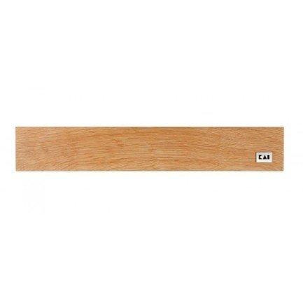 Деревянная магнитная планка для 4-6 ножей, дубовая, 39х6.5х3 см (DM-0800)