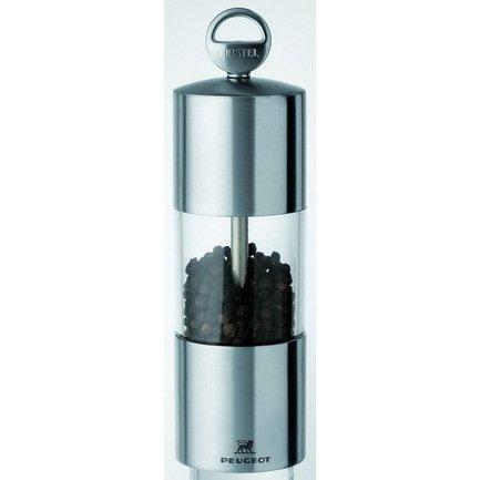 Мельничка для перца стальная, 15 см, прозрачная, с механизмом Пежо (TCPRT15)