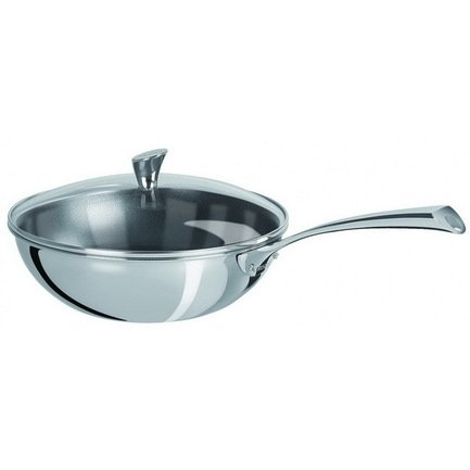 Вок Триламин Кастелин (3.9 л), 28 см, с выпуклой стеклянной крышкой (WT28CMEVB)Воки (Азиатские сковороды)<br><br><br>Серия: Casteline fixes