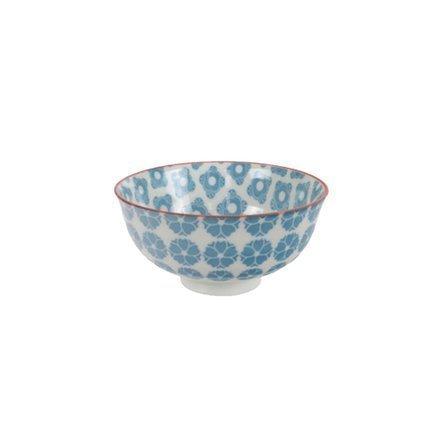 Чаша Tokyo Design Bohemian Printemps, синяя, 12x6 смСалатницы, Супницы<br>Фарфоровая чаша небольшого диаметра не только красива, но и довольно практична и удобна. Ее предназначение – порционная подача салатов и закусок. Также она может использоваться как пиала для индивидуальной подачи каш, супов или лапши или общих закусок и салатов, которые сервируются маленькими порциями.<br><br>Серия: Bohemian Printemps