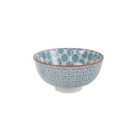 Чаша Tokyo Design Bohemian Printemps, голубая, 12x6 смСалатницы, Супницы<br>Фарфоровая чаша небольшого диаметра не только красива, но и довольно практична и удобна. Ее предназначение – порционная подача салатов и закусок. Также она может использоваться как пиала для индивидуальной подачи каш, супов или лапши или общих закусок и салатов, которые сервируются маленькими порциями.<br><br>Серия: Bohemian Printemps