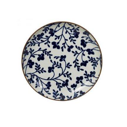Тарелка Tokyo Design Fleur de Ligne, сине-белая, 21.5x3 см