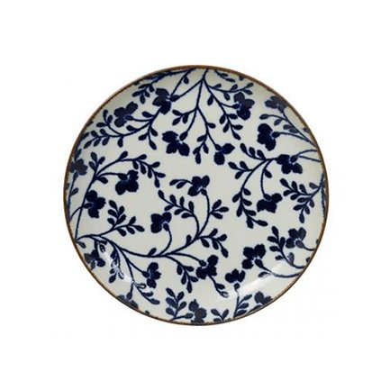 Тарелка Tokyo Design Fleur de Ligne, сине-белая, 25x3 см