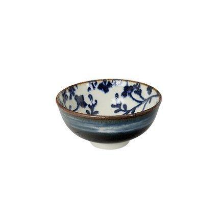 Чаша Tokyo Design Fleur de Ligne, сине-белая, 11.8x5.5 см