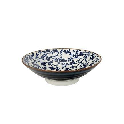 Чаша Tokyo Design Fleur de Ligne, сине-белая, 24.5x7.5 см