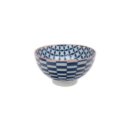 Чаша Tokyo Design Geometric Eclectic, синяя, 12x6.5 см