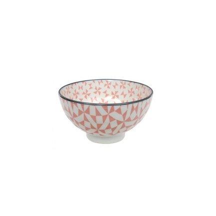 Чаша Tokyo Design Geometric Eclectic, розовая, 12x6.5 смСалатницы, Супницы<br>Фарфоровая чаша небольшого диаметра не только красива, но и довольно практична и удобна. Ее предназначение – порционная подача салатов и закусок. Также она может использоваться как пиала для индивидуальной подачи каш, супов или лапши или общих закусок и салатов, которые сервируются маленькими порциями.<br><br>Серия: Geometric Eclectic