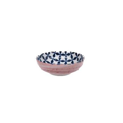 Чаша Tokyo Design Geometric Eclectic, сине-розовая, 9.5x3 см