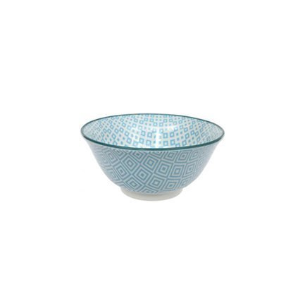 Чаша Tokyo Design Geometric Eclectic, голубая, 15x6.8 см