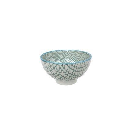 Чаша Tokyo Design Geometric Eclectic, зеленая, 12x6.5 смСалатницы, Супницы<br>Фарфоровая чаша небольшого диаметра не только красива, но и довольно практична и удобна. Ее предназначение – порционная подача салатов и закусок. Также она может использоваться как пиала для индивидуальной подачи каш, супов или лапши или общих закусок и салатов, которые сервируются маленькими порциями.<br><br>Серия: Geometric Eclectic