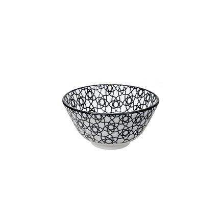 Чаша Tokyo Design Nippon Stripe, черная, 12x6.4 смСалатницы, Супницы<br>Фарфоровая чаша небольшого диаметра не только красива, но и довольно практична и удобна. Ее предназначение – порционная подача салатов и закусок. Также она может использоваться как пиала для индивидуальной подачи каш, супов или лапши или общих закусок и салатов, которые сервируются маленькими порциями.<br><br>Серия: Nippon