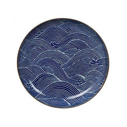 Тарелка Tokyo Design Seigaiha, синяя, 25x3 см