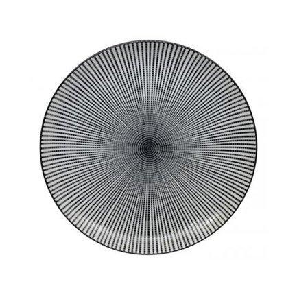 Тарелка Tokyo Design Sendan, черная, 25x3 см