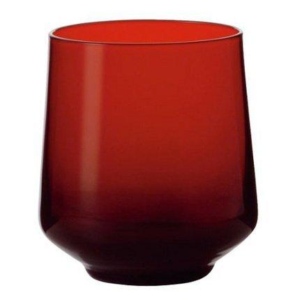Стакан низкий (350 мл), красный Alter EgoСтаканы<br>Стакан высотой 10 см пригодится для подачи прохладительных напитков: соков, минеральной воды или газированных напитков со льдом. Его изящная форма и приятный дизайн гармонируют с любой сервировкой стола.<br><br>Серия: Abc