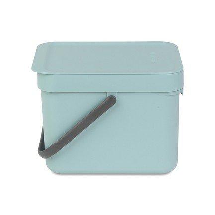 Ведро для мусора Sort & Go (6 л), 26.5х20х18.1 см, желтое