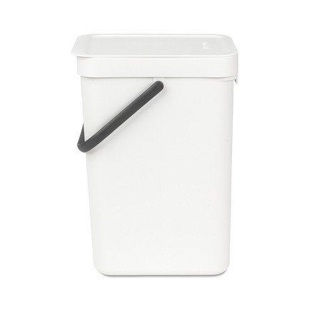 Ведро для мусора Sort & Go (12 л), 25х20х35 см, белое