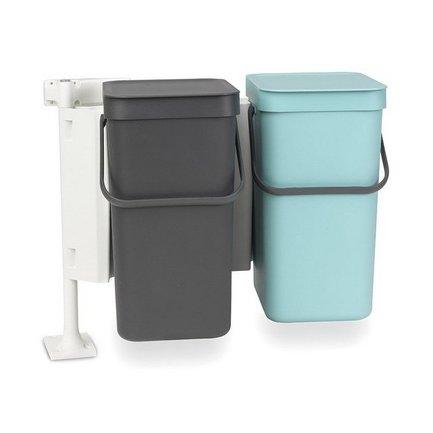Набор ведер для мусора Sort &amp; Go (12 л), 48х33.5х46 см, 2 шт.Мусорные ведра<br><br><br>Серия: Sort &amp; Go<br>Состав: Ведро для мусора (12 л), мятное - 1 шт., Ведро для мусора (12 л), серое - 1 шт.