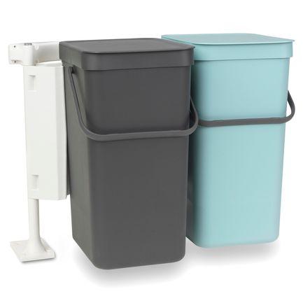Набор ведер для мусора Sort & Go (16 л), 50х36х46 см, 2 шт.