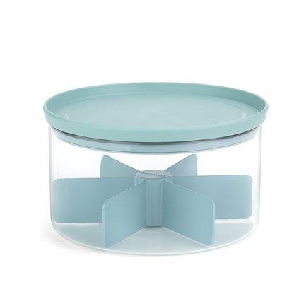 Контейнер для чая стеклянный, 19х11 см, мятныйКонтейнеры<br><br>