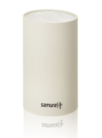 Подставка универсальная для ножей Samura, 18 см, пластиковая, белая KBF-102W/16