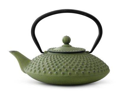 Чайник заварочный Jing (1.25 л), зеленыйЗаварочные чайники и Кофейники<br>Красивый заварочный чайник изготовлен из чугуна высочайшего качества и прочности. Идеален для заваривания любого сорта чая - черного, зеленого или травяного сбора.<br><br>Серия: Jing