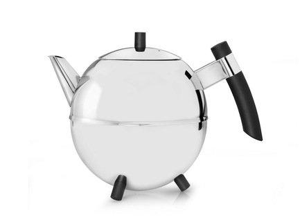 Чайник заварочный Meteor (1.4 л), черныйЗаварочные чайники и Кофейники<br>Красивый заварочный чайник изготовлен из нержавеющей стали высочайшего качества и прочности. Идеален для заваривания любого сорта чая - черного, зеленого или травяного сбора.<br><br>Серия: Meteor