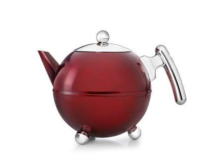 Чайник заварочный Ronde (1.2 л), красный металлик, хромЗаварочные чайники и Кофейники<br>Красивый заварочный чайник изготовлен из нержавеющей стали высочайшего качества и прочности. Идеален для заваривания любого сорта чая - черного, зеленого или травяного сбора.<br><br>Серия: Bella Ronde