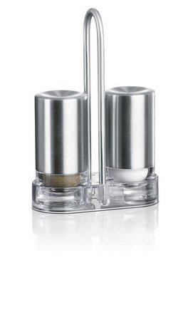 Набор солонка и перечница Accenta 507642, 3 пр.Мельницы для перца, соли, специй<br><br><br>Серия: Accenta<br>Состав: солонка - 1 шт., перечница - 1 шт., подставка - 1 шт.