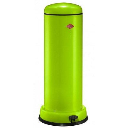 Ведро для мусора с педалью (30 л), 36.2х80 см, зеленый лайм (117561)Мусорные ведра<br>Этот элегантный, вместительный мусорный контейнер отличается стильным исполнением, потрясающим удобством в использовании, надежностью и долговечностью. Контейнер прекрасно впишется в интерьер вашей кухни, санузла, балкона или террасы. Корпус и крышка контейнера изготовлены из высококачественной нержавеющей стали и покрыты стойкой лаковой краской. Педаль и устойчивое основание в виде декоративного кольца выполнены из прочного бытового пластика, а внутреннее мусорное ведро - из гальванизированной огнестойкой стали. Контейнер легко открывается при помощи педали, выполненной из прочного нескользящего пластика.<br><br>Серия: Baseboy