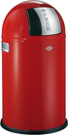Ведро для мусора с заслонкой (22 л), 35х63 см, красное (117564)