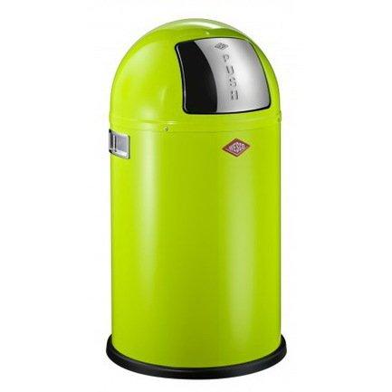 Ведро для мусора с заслонкой (22 л), 35х63 см, зеленый лайм (117566)Мусорные ведра<br>Этот вместительный, стильный контейнер идеально подойдет для кухни, ванной, загородного дома, балкона, террасы, а также бара или ресторана. Оптимальный выбор для большой семьи. Корпус контейнера выполнен из высококачественной нержавеющей стали, покрытой стойкой краской. Внутреннее мусорное ведро изготовлено из гальванизированной огнестойкой стали и снабжено плотным резиновым кольцом для надежной фиксации мусорных мешков. На корпусе есть большая и удобная кнопка, при нажатии на которую легко открывается крышка контейнера.<br><br>Серия: Kickboy