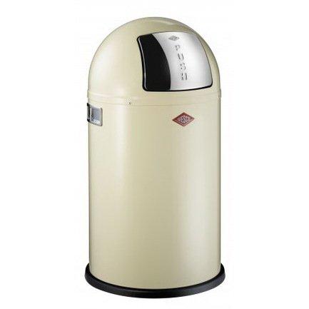 Ведро для мусора с заслонкой (22 л), 35х63 см, кремовое (117567)Мусорные ведра<br>Этот вместительный, стильный контейнер идеально подойдет для кухни, ванной, загородного дома, балкона, террасы, а также бара или ресторана. Оптимальный выбор для большой семьи. Корпус контейнера выполнен из высококачественной нержавеющей стали, покрытой стойкой краской. Внутреннее мусорное ведро изготовлено из гальванизированной огнестойкой стали и снабжено плотным резиновым кольцом для надежной фиксации мусорных мешков. На корпусе есть большая и удобная кнопка, при нажатии на которую легко открывается крышка контейнера.<br><br>Серия: Kickboy